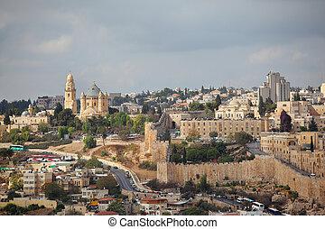 The capital of Israel - Jerusalem. Beautiful autumn day