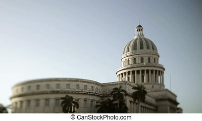 the capitolio building in the centre of havana, cuba