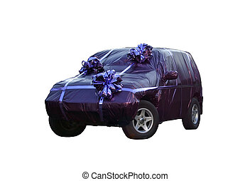 The car in gift packing