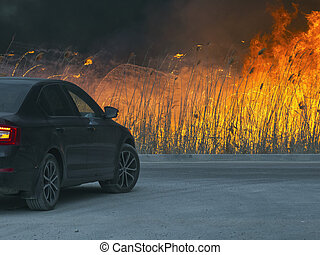 The car is about a huge dangerous fire