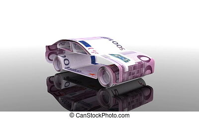 the car is created from Euro banknotes, the concept of...