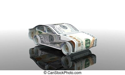 the car is created from money, the concept of financing the...