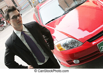 The car sales man