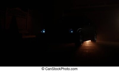 the car switch on xenon headlights at night