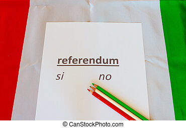 the card to cast their vote on a referendum held in Italy