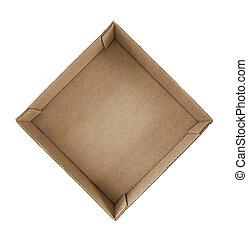 the cardboard box on white