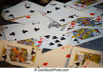 The cards which were scattered