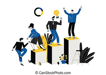 career ladder of a businessman