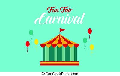 The carnival funfair background style
