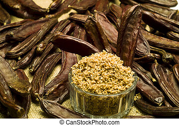 The Carob (Ceratonia siliqua) - The carob (Ceratonia...