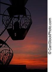 The carousel at dawn