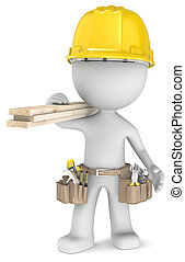 The Carpenter. - Dude the Carpenter, carrying tools and wood...