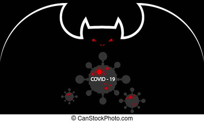 The carriers of coronavirus covid 19 are bats, art video ...