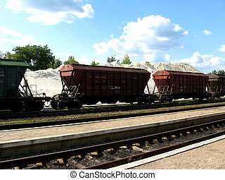 The cars of a freight train