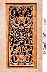 The Carving wood of pattern chinese style