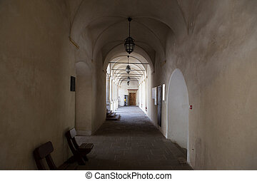 The castle corridor
