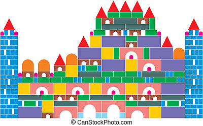 The castle of colored cubes