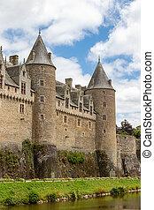 the castle of Josselin, in Brittany