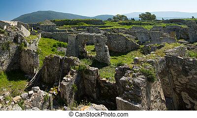 The castle of Lefkada