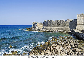 the castle of Methoni Messenia Peloponnese Greece - medieval Venetian fortification