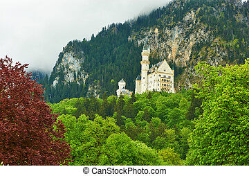 The castle of Neuschwanstein in Germany