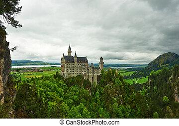 The castle of Neuschwanstein in Germany