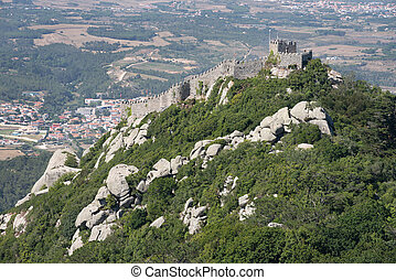 The Castle of the Moors, seen from the Sintra National ...