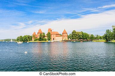 The castle on the island. Trakai, Lithuania