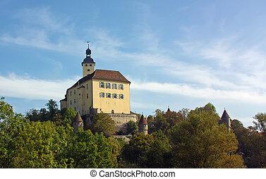 The castle on the river Neckar, Germany