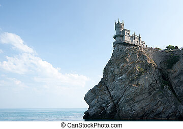 The castle on the rock beach. Swallow's Nest.