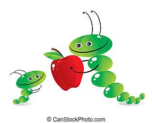 The caterpillar-mum and caterpillar-child