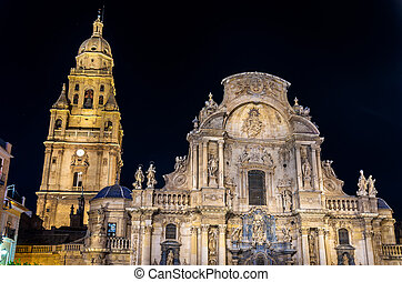 The Cathedral Church of Saint Mary in Murcia, Spain