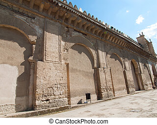 The Cathedral Mosque Entrance as seen from Los Naranjos Patio in Cordoba, Spain
