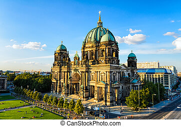 The Cathedral (Dom) of Berlin, Germany in golden evening light