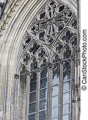 The cathedral of Cologne. Detail from facade
