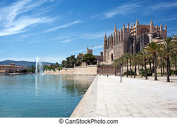 The Cathedral of Santa Maria in Palma de Mallorca