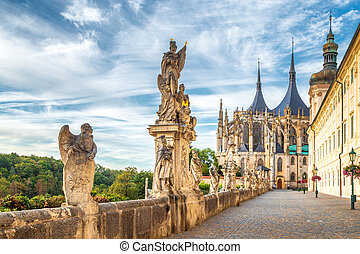 The Cathedral of St Barbara and Jesuit College in Kutna Hora, Czech Republic, Europe.