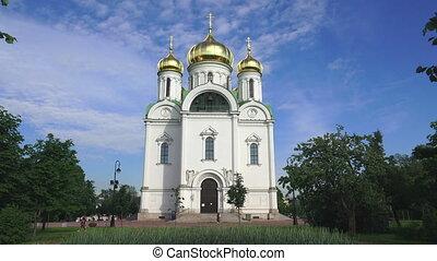 The Cathedral Of St. Catherine. Pushkin. Catherine Park. Tsarskoye Selo. 4K.