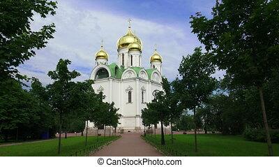 The Cathedral Of St. Catherine. Pushkin. Catherine Park. Tsarskoye Selo.