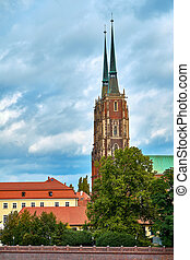 The Cathedral of St. John the Baptist in Wroclaw is the seat of the Roman Catholic Archdiocese of Wroclaw and a landmark of the city of Wroclaw in Poland.