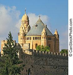 The Catholic Church of Dormition in Jerusalem