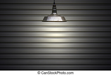 the ceiling lamp with copy space