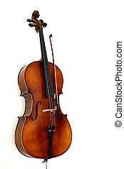 The Cello - A cello in white background