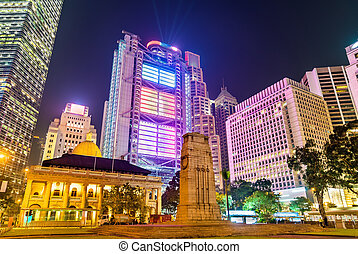 The Cenotaph and the Court of Final Appeal Building in Hong...
