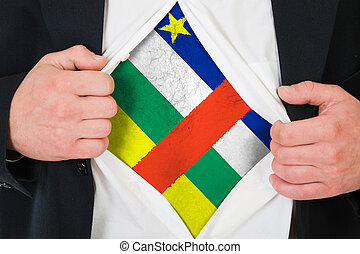 The Central African Republic flag