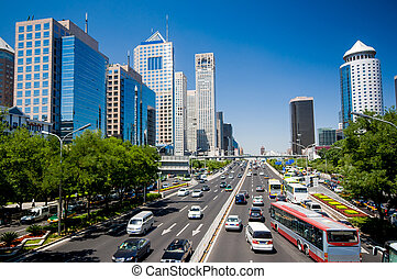 The central business district in beijing, China