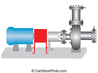 The centrifugal pump. - Pump electric, for pumping liquids....
