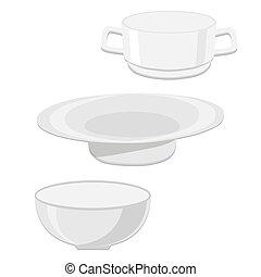 The ceramic bowls