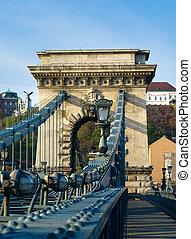 The Chain Bridge across the Danube in Budapest