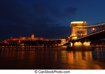 The Chainbridge in Hungary Budapest
